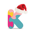 Letter K written with alphabet puzzle vector image vector image