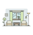Living room linear style vector image