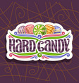 logo for hard candy vector image vector image