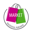 logo packages for purchases of goods vector image vector image
