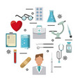 medical symbols set vector image vector image
