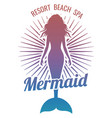 mermaid silhouette stylized logo vector image vector image