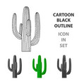 mexican cactus icon in cartoon style isolated on vector image vector image