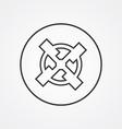 mill outline symbol dark on white background logo vector image vector image