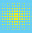 modern textured halftone background yellow blue vector image