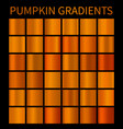 orange gradients for halloween banners flyers vector image vector image