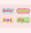 pixel art 8bit set of sticker vector image vector image