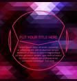 purple futuristic template vector image vector image