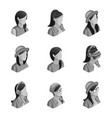 qualitative isometry 3d avatars are not active vector image