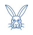 rabbit head line icon concept rabbit head flat vector image vector image