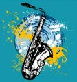 saxophone design vector image vector image