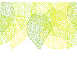 seamless nature pattern with stylized green leaves vector image
