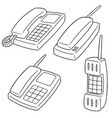 set of telephone vector image