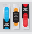 set vertical web banners with with place for vector image