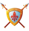 shield with Spear vector image vector image