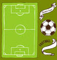 Sketch soccer set vector image