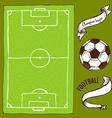 Sketch soccer set vector image vector image