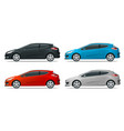 sportcar or hatchback vehicle suv car set on vector image vector image