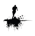 Sportsperson silhouette vector image vector image