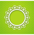spring background with a frame vector image vector image
