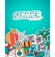 Summer tourism vector image vector image
