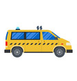taxi car flat design isolated object on white vector image vector image
