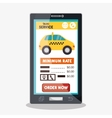 taxi transport service digital icon design vector image vector image