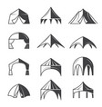 tent silhouettes outdoor party event buildings vector image vector image