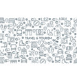 thin line design travel banner vector image
