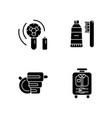 things for travelling tourist suitcase black vector image