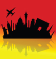 travel to the cities of the world vector image vector image