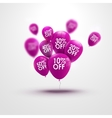 Trendy beautiful background with baloons and vector image vector image