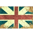 Vintage English flag vector image vector image