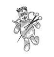 voodoo doll sketch engraving vector image vector image