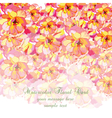 Watercolor Colorful Summer flowers card vector image vector image