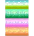Colorful seamless landscapes set vector image