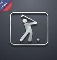 Golf icon symbol 3D style Trendy modern design vector image