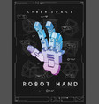 abstract futuristic poster with robot hand vector image vector image
