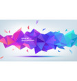 abstract geometric 3d facet shape use for vector image vector image