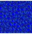 abstract seamless pattern with blue hexagons vector image