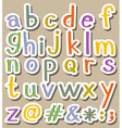 Alphabets vector image vector image