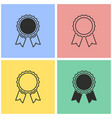 award icon set vector image vector image
