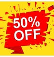 Big sale poster with 50 PERCENT OFF text vector image vector image