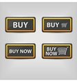 black buy buttons vector image vector image