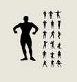 Bodybuilding Silhouettes vector image vector image