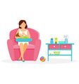 breastfeening vector image