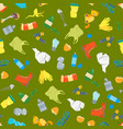 cartoon trash and garbage seamless pattern vector image vector image