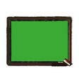 chalk board with school supply icon image vector image vector image