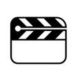 cinema flapper icon vector image