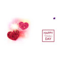colorful valentines day card typographic text vector image